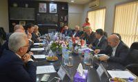 لقاء ممثلي القطاع الخاص مع رئيس بلدية أمستردام في بلدية رام الله